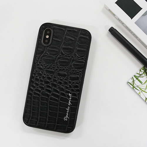 CROCO SKINLEATHER COVER - 블랙