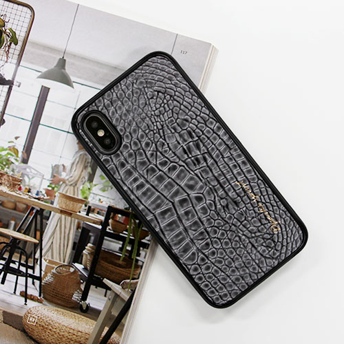 CROCO SKINLEATHER COVER - 그레이