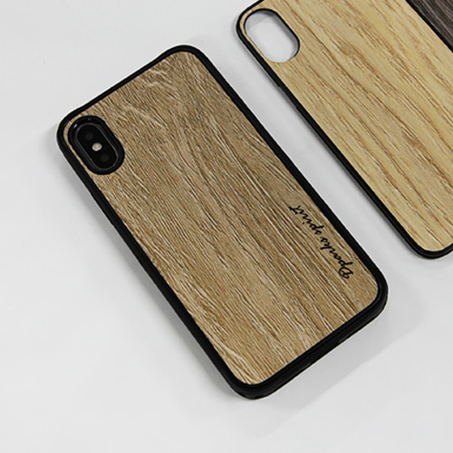 CLASSIC WOOD CASE LIGHT BROWN - 로고