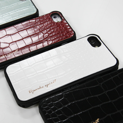 CROCO GLOSS  LEATHER COVER - 화이트글로스