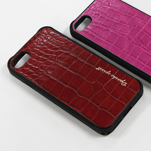CROCO GLOSS  LEATHER COVER - 레드글로스