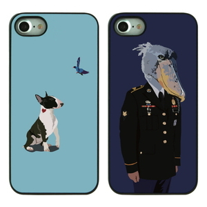 GUNWOO SHOEBILL&BULLTERRIER BLACK CASE